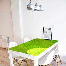 Decorative vinyl tables lily pads