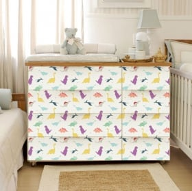Adhesive vinyl chest of drawers of baby