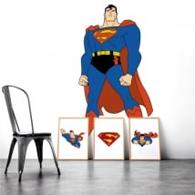 Vinyl and stickers of superman