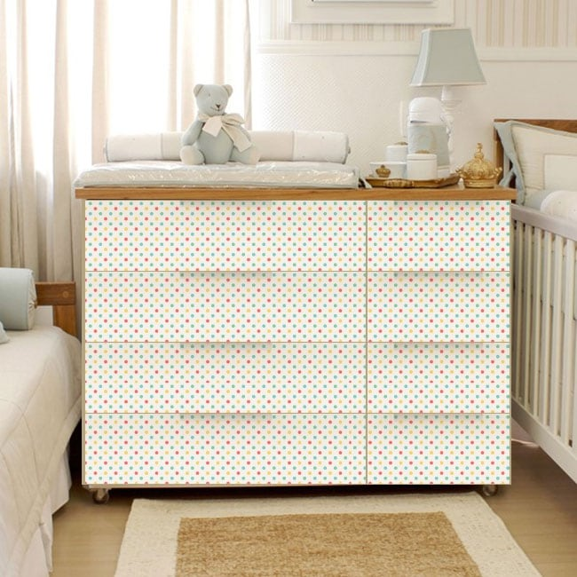 Vinyl and stickers chest of drawers of baby