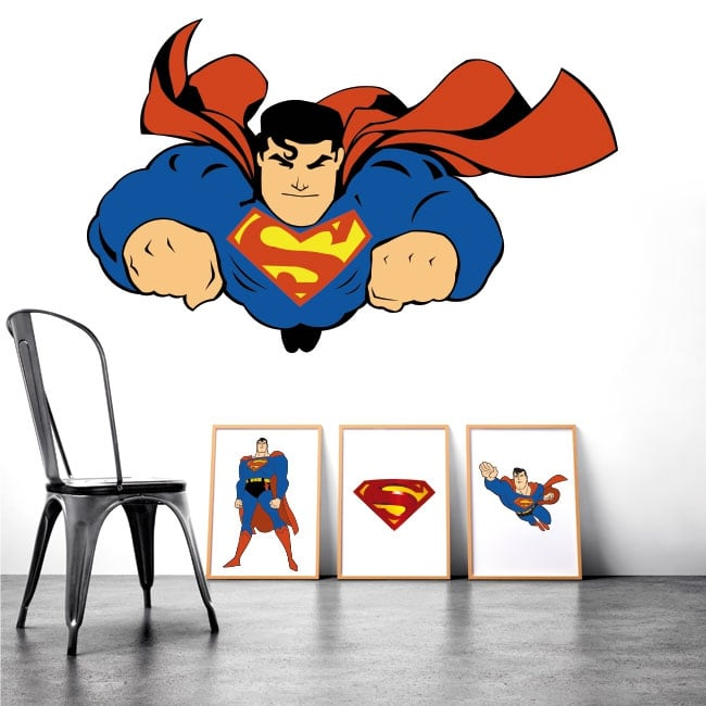 Adhesive vinyl and stickers superman