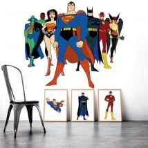 Decorative vinyl superheros
