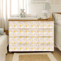 Vinyl decorate chest of drawers baby