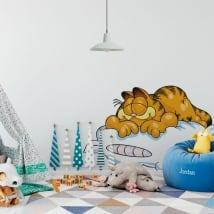 Decorative vinyl garfield sleeping