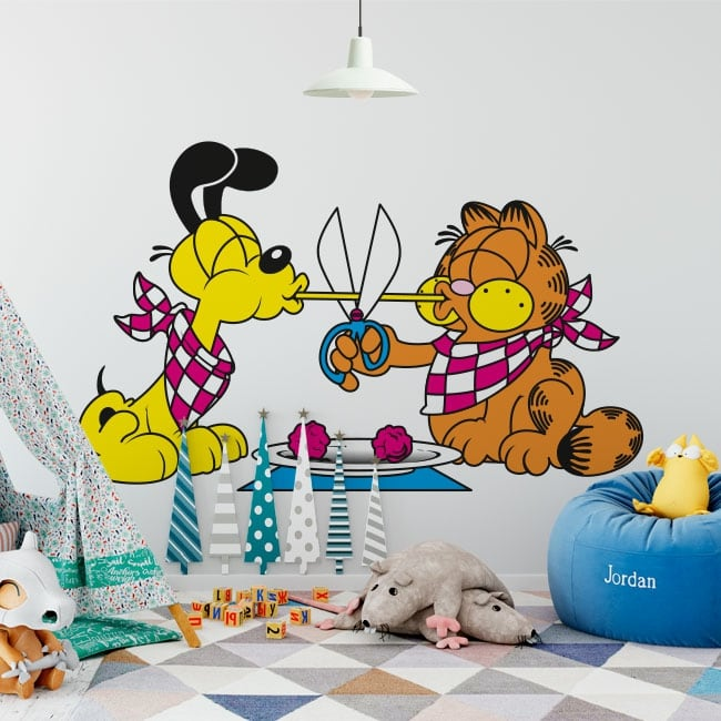 Decorative vinyl garfield and odie