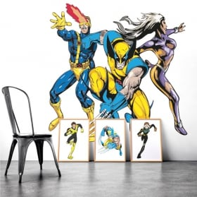 Decorative vinyl walls x-men