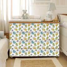 Vinyl decorate furniture rooms baby