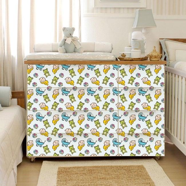 Vinyl decorate furniture rooms baby