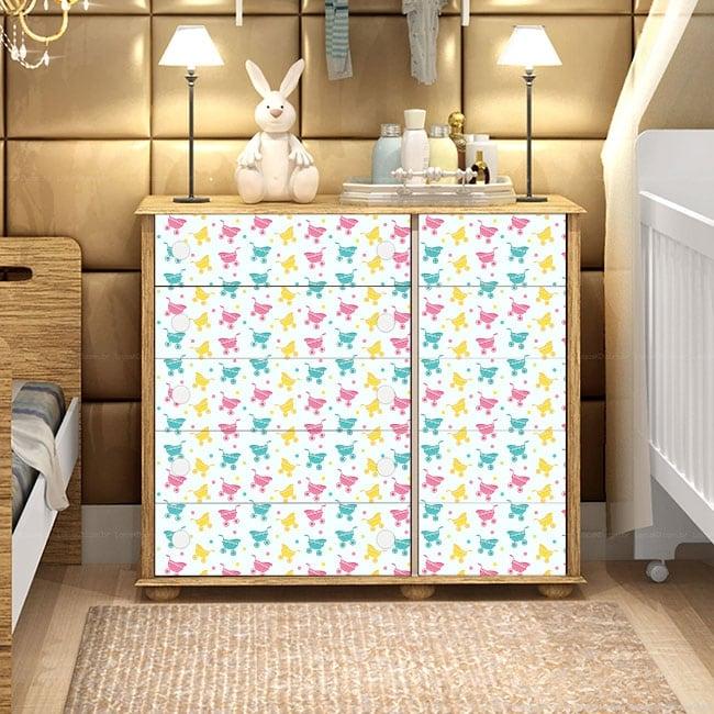 Decorative vinyl for baby furniture