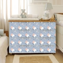 Baby vinyl furniture and chest of drawers