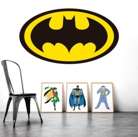 Decorative vinyl batman logo