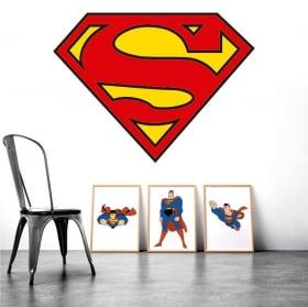 Decorative vinyl superman logo