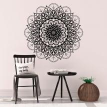 Adhesive vinyl mandala walls