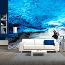 Vinyl wall murals skaftafell glacier