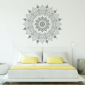 Vinyl mandalas decorate walls and windows