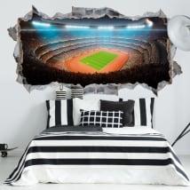 Decorative vinyl football and athletics stadium 3d