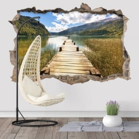 Vinyl walls catwalk on lake 3d