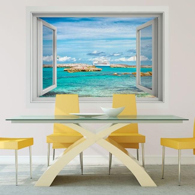 Vinyl walls cruise in the bahamas 3d