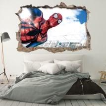 Decorative vinyl walls spiderman 3d
