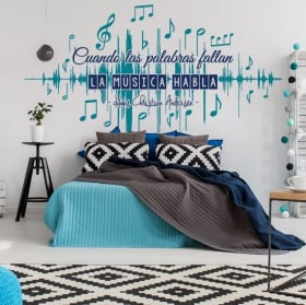 Decorative vinyl walls music phrases