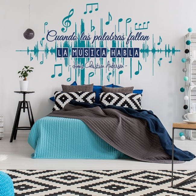 Decorative vinyl walls music phrases