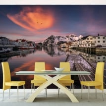 Photomurals walls islands lofoten norway