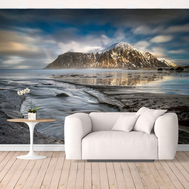 Vinyl mural islands lofoten norway