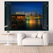Vinyl walls islands lofoten norway windows 3d