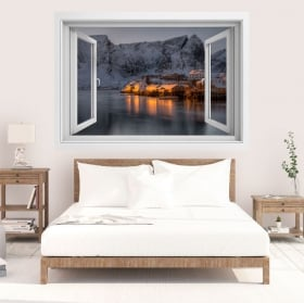 Vinyls islands lofoten norway 3d window