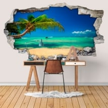 Vinyl walls beaches dominican republic 3d