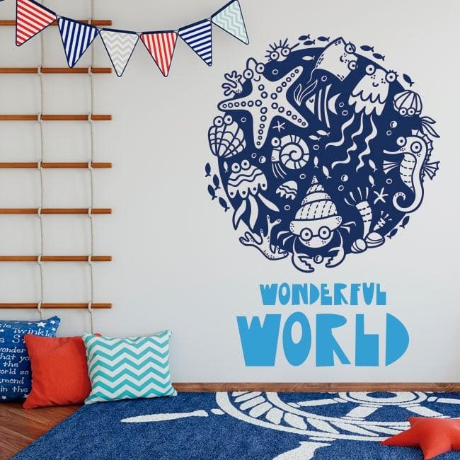 Children vinyls wonderful world