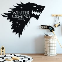 Vinyl walls game of thrones winter is coming stark