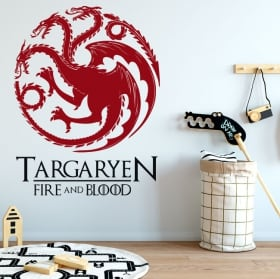 Decorative vinyl game of thrones fire and blood