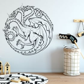 Vinyl and stickers game of thrones dragon
