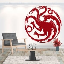 Decorative vinyl dragon game of thrones