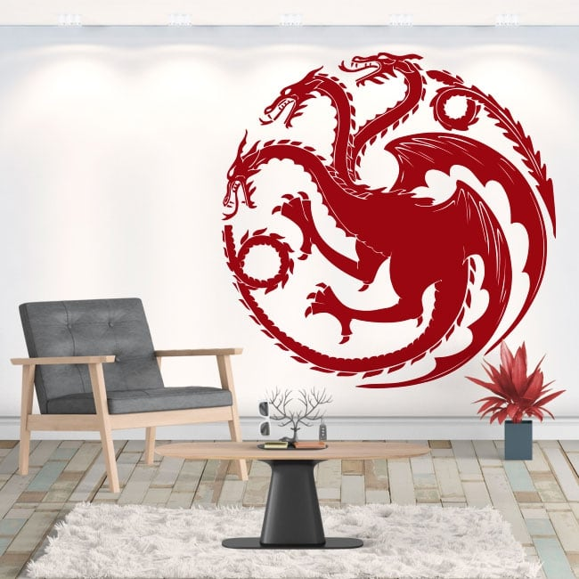 Decorative vinyl dragon game of thrones