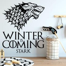 Decorative vinyl game of thrones winter is coming stark