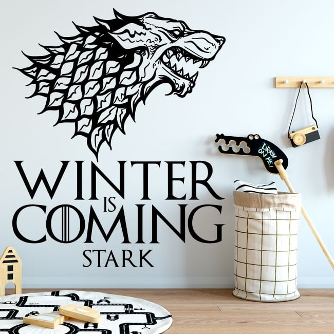 Decorative vinyl game of thrones winter is coming stark