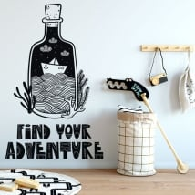 Decorative vinyl sentence find your adventure