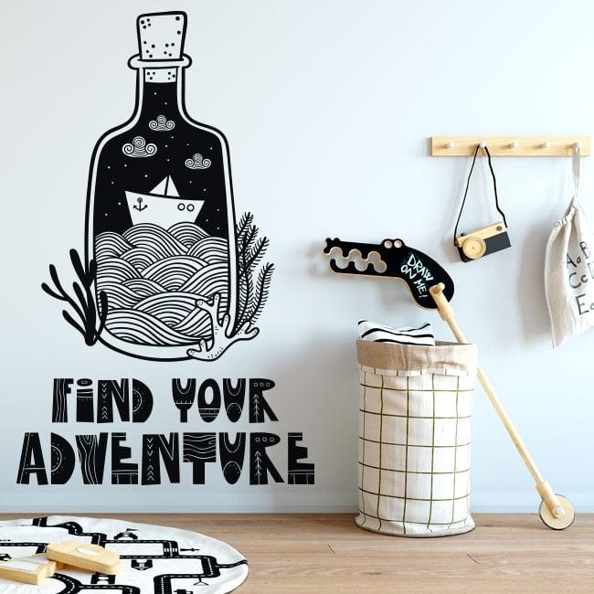Decorative vinyl sentence find your adventure