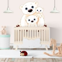 Wall murals family children's bears