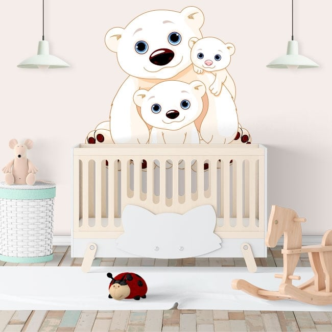 Wall murals family children's bears