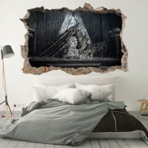 Decorative vinyl walls game of thrones 3d