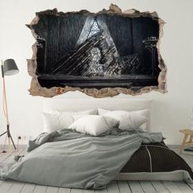 Decorative vinyl walls game of thrones 3d