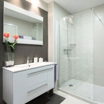 Vinyls screens ripples for bathrooms