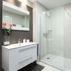Vinyls screens ripples for bathrooms