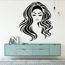 Wall murals female silhouette
