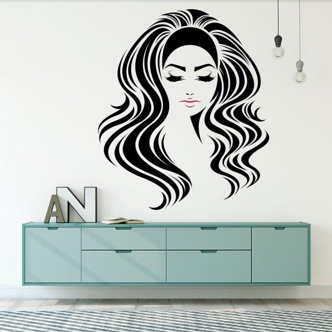 Wall murals female silhouette