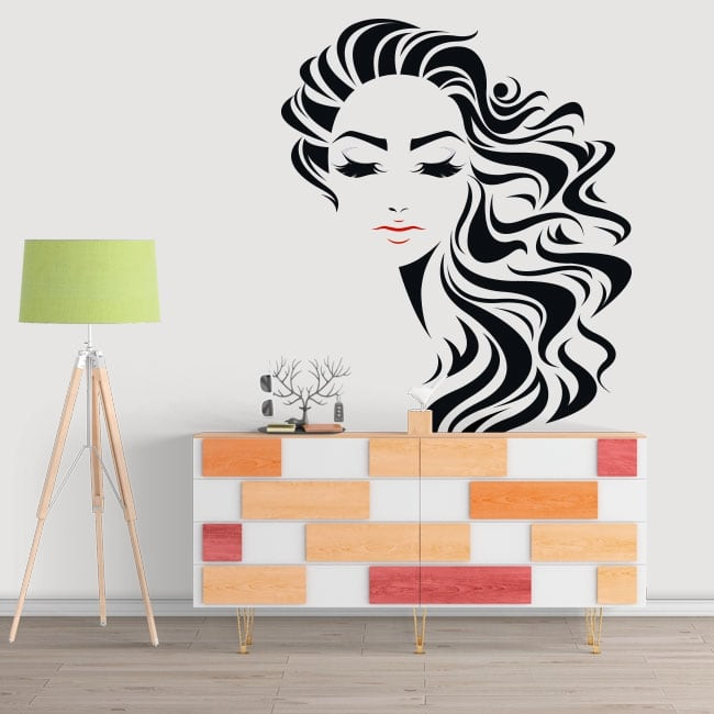 Decorative vinyl woman face