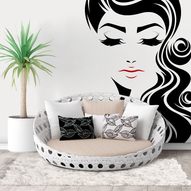 Wall decal woman face